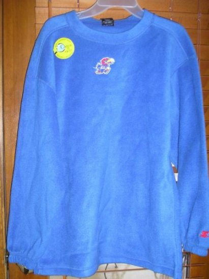Boys Girls KU Jayhawks Fleece Pullover Youth XLarge NEW WARM!
