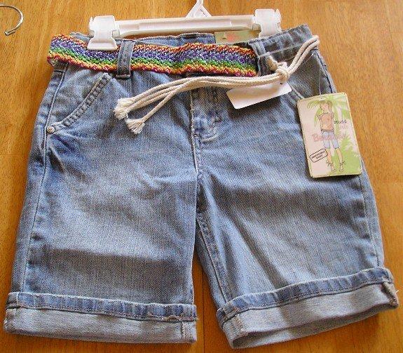 Mudd Girls Bermuda Shorts + Bonus Belt NEW Adj. Waist!