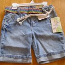 Mudd Girls Bermuda Shorts + Bonus Belt NEW Adj. Waist!