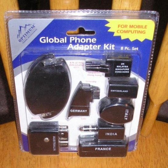 Global Phone Adapter Kit For Mobile Computing 8 PC NEW!