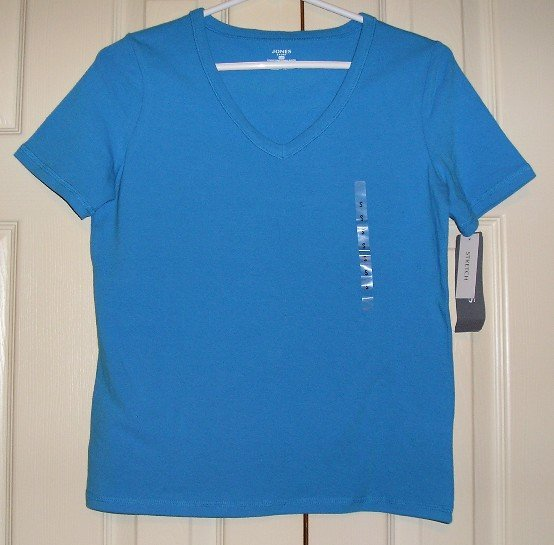 NEW Womens Teens Girls Stretch Tee Jones Sport Blue S - $29