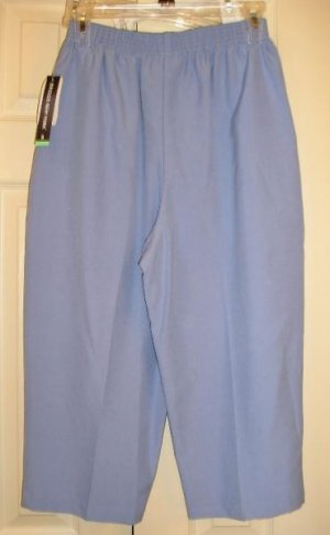 Briggs Capri Pants Light BLUE Capris Sz 6 New Womens
