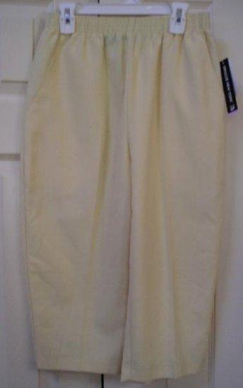 Briggs Capri Pants Light Yellow Capris Sz 6 Petite New Womens!