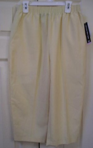 Briggs Capri Pants Light Yellow Capris Sz 6 Petite New Womens!