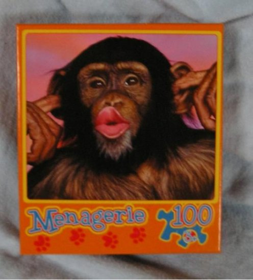 NEW Menagerie Monkey Face Puzzle 100 Pcs Kissing!