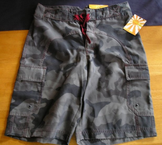 NEW Mens Teens Boys Board Shorts Army Color 30 Waist!