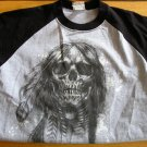 New Mens Teens Boys Fifth Avenue Feather Skull TShirt Medium T-Shirt