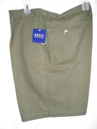 NEW Mens Shorts 34 Teens Boys 2 Army Green SAVE!