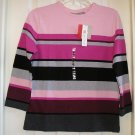 Croft & Barrow Womens Shirt Top Small Pink Striped NEW Sale - $18 !