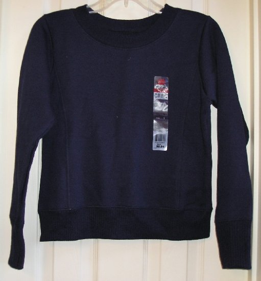 New Hanes Navy Blue Tagless SweatShirt Medium SALE New Style & Fit