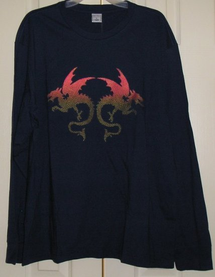 Old Navy Mens Long Sleeve T-Shirt Top Dragon XL NEW SALE