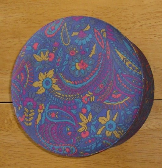 Paisley Covered Jewelry Trinkit Storage Box New Old Stock Great Size