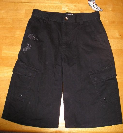 Tony Hawk Boys Teens Shorts Sz 18 Black Skateboard NEW