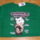Over the Hill Pitcher Baseball T-Shirt TSHIRT Boys Green Large NEW