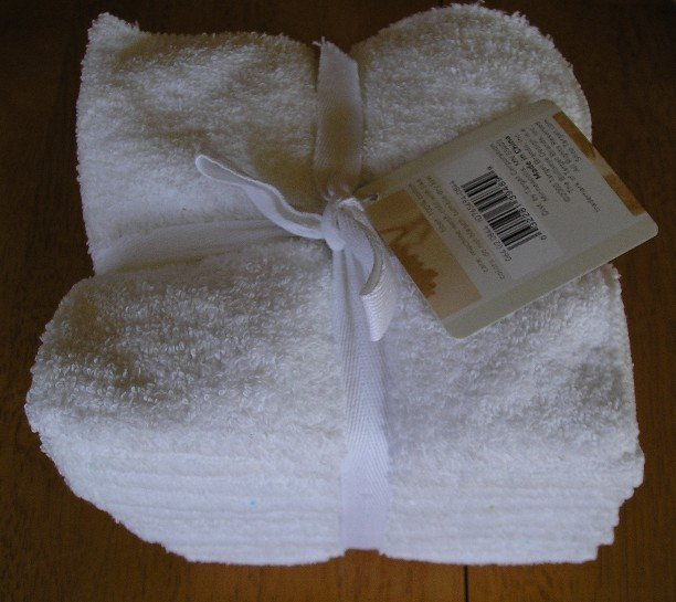 Contemporary 12 Pack Wash Cloths WashCloths 13 x 13 100% Cotton NEW