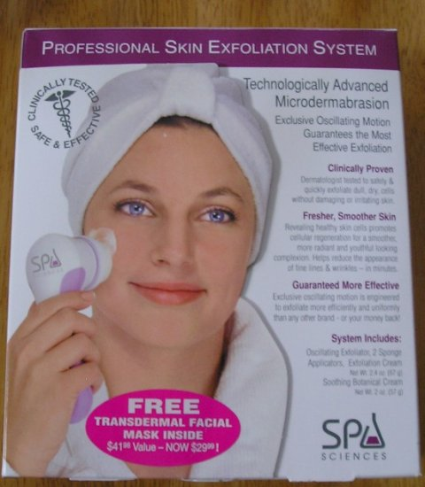 Spa Sciences Professional Size Exfoliation System Kit + Bonus Facial Mask NEW