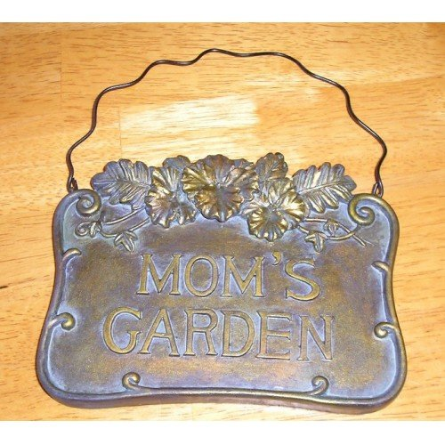 Moms Garden Hanging Ceramic Plaque Antique Finish NEW