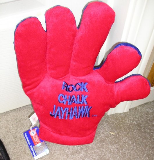 KU Jayhawks Licensed Spirit Hand Collegiate Glove Rock Chalk JayHawks NEW
