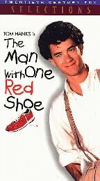 VHS Movie The Man With One Red Shoe Tom Hanks Family Film Comedy