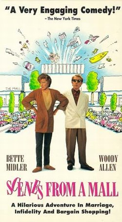 VHS Movie Scenes From a Mall Bette Midler and Woody Allen Comedy