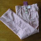 Oh Baby Large Pink Maternity Corduroy Pants Constructed Belly NEW