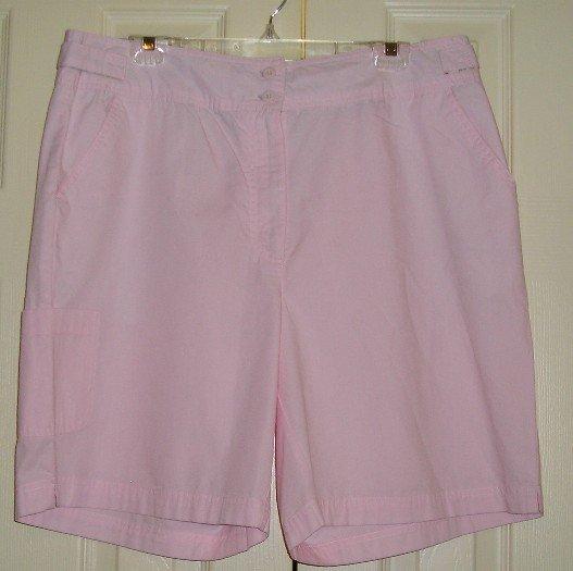 Bill Blass JeansWear Womens Shorts Pink Size 16W NEW