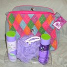 BodySource Colorfuls Heart Stuff Purse + Bath Body Set NEW