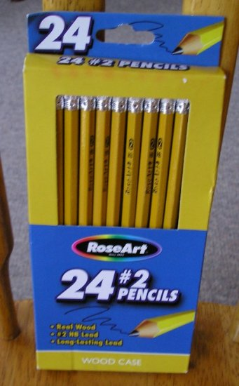 Roseart 24 Package #2 Pencils Yellow Long Lasting New