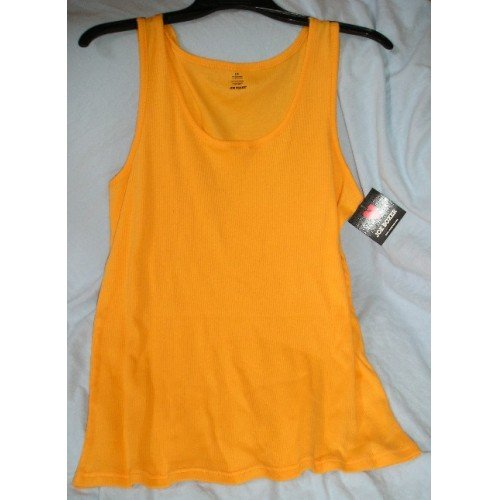 Joe Boxer Orange Tank Top Womens Juniors Girls Tagless Large NEW