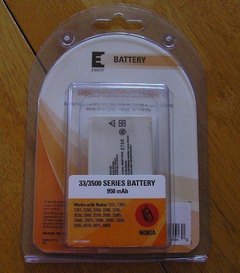 Envoy Mobile Phone Battery Nokia 3300 3500 Series NEW
