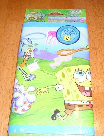 Spongebob  SquarePants Wall Paper Border and Bonus CutOuts New