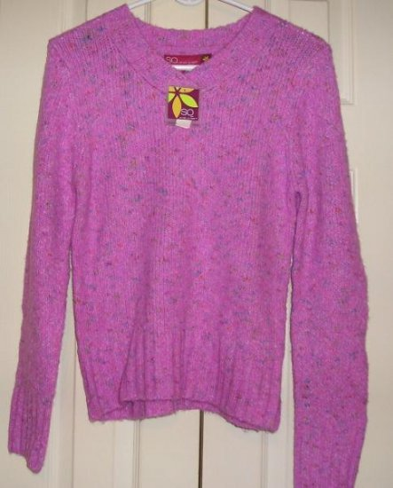 So Girls Teens Sweater XL Long Sleeve Knit Purple NEW