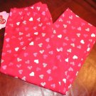My Funny Valentine Girls Red Hearts Capris Capri Pants Large NEW