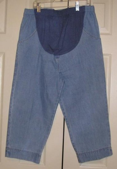 Planet Motherhood Jeans Capri Capris Maternity XL NEW