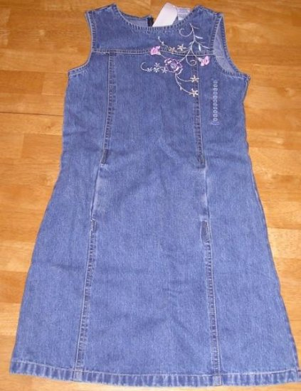 NEW Old Navy Girls Denim Dress Jumper - 10 Jeans CUTE