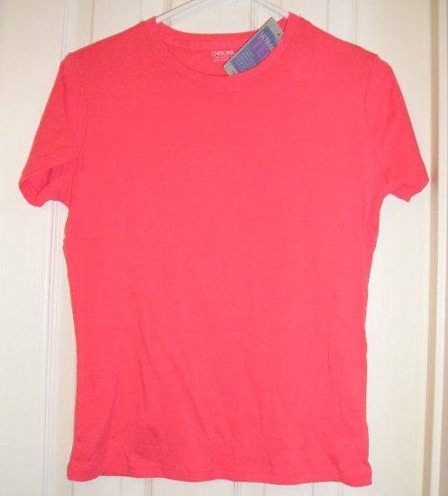 NEW Juniors Cherokee Stretch T-Shirt Tagless Melon X-Small