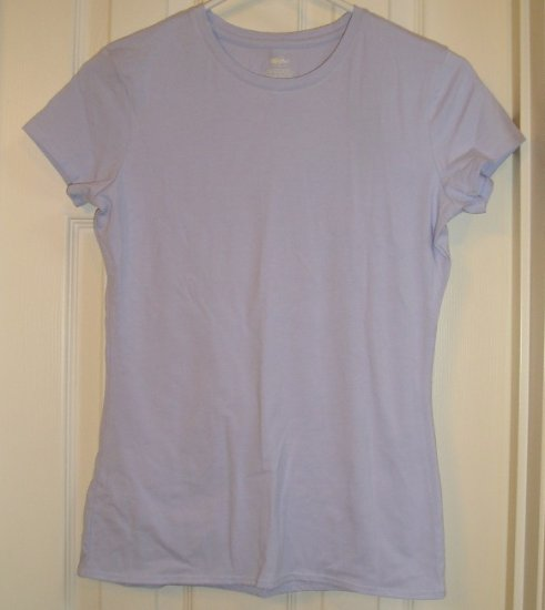 NEW Juniors Mossimo Stretch Top T-Shirt Tagless Lavender Small