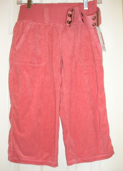 Mossimo Loop Terry Crop Capri Sports Pants Capris XS NEW