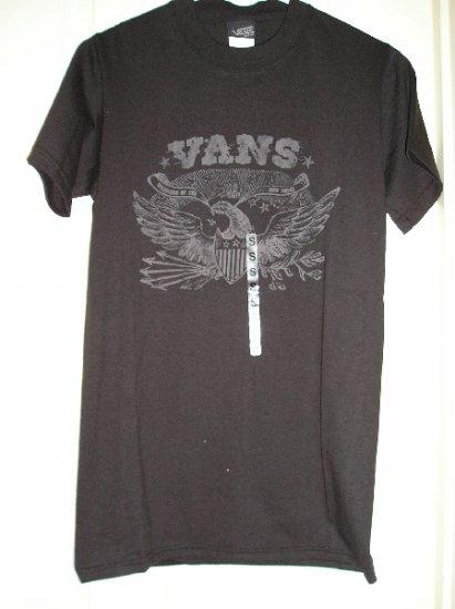 Vans Black Skate Shirt Skateboarding TShirt Vans Eagle Mens Small NEW
