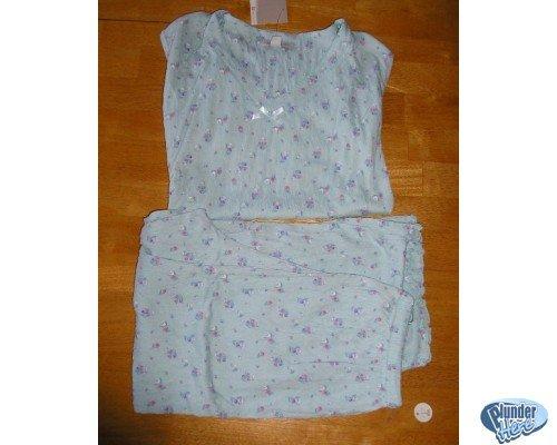 NEW Croft & Barrow Floral Gauze Capri Pajama Set SMALL Womens Teens Juniors
