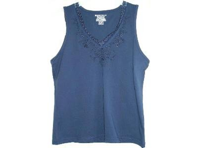 NEW Basic Editions Navy Blue Tank Top Womens  Girls Teens or Juniors Small
