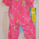 Disney Fairies TinkerBell 4 Piece Pajama Set Size 8 NEW