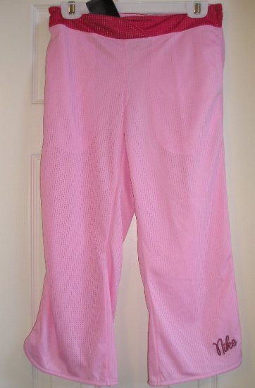 Nike Girls Pink Sports Cheer Capri Mesh Style NEW Sz. XL