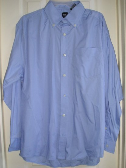 Mens Blue Oxford Button Down Shirt Basic Editions Extra Large NEW