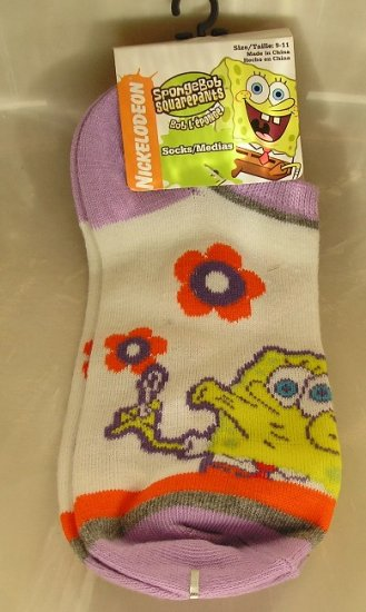 Spongebob SquarePants Womens Sport Socks NEW