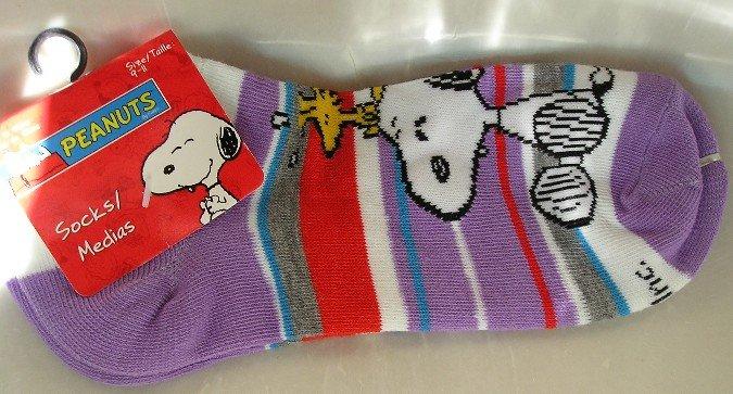 Peanuts Snoopy Woodstock Womens Sport Socks NEW