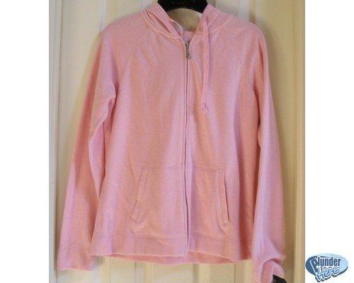 Sonoma Pink Hoodie Hoodie Jacket Pockets Womens S NEW