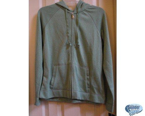 Sonoma Green Hoodie Hoodie Jacket Pockets Womens M NEW