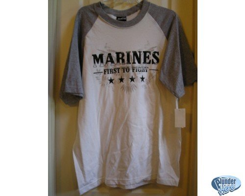 Marines - First to Fight T-Shirt TShirt Large Mens NEW