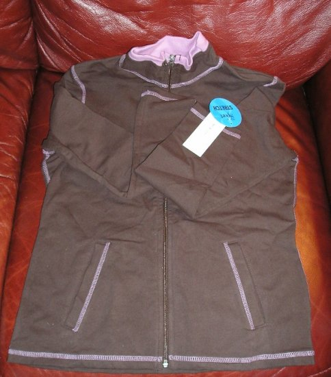 Style & Co Brown Track Jacket Zip Front Small NEW